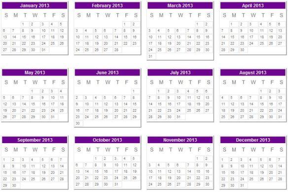 2013 calendar_0